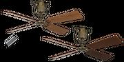 Deckenventilator Roadhouse MA 152 cm Eiche / Nussbaum 001