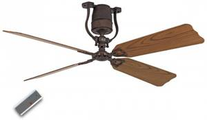 "Ceiling Fan Roadhouse brown antique 152 cm / 60"" antique oak / walnut"