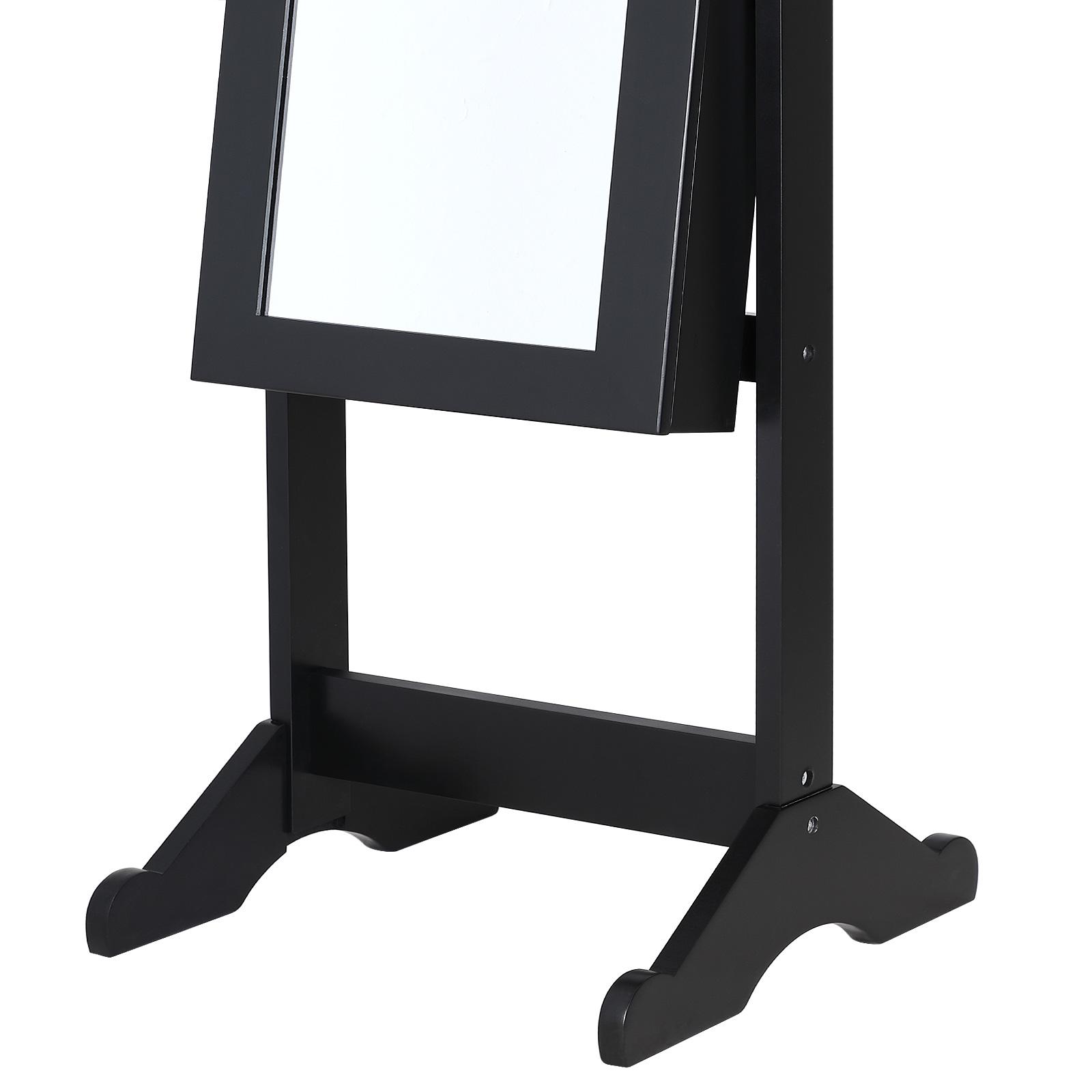 Armoire à bijoux avec miroir moderne noire - Pivotable - Rangement accessoires | eBay