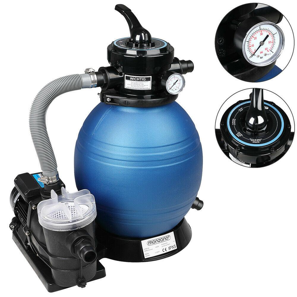 Pompe filtre sable jusqu 39 l h avec pr filtre - Nettoyage filtre a sable piscine ...