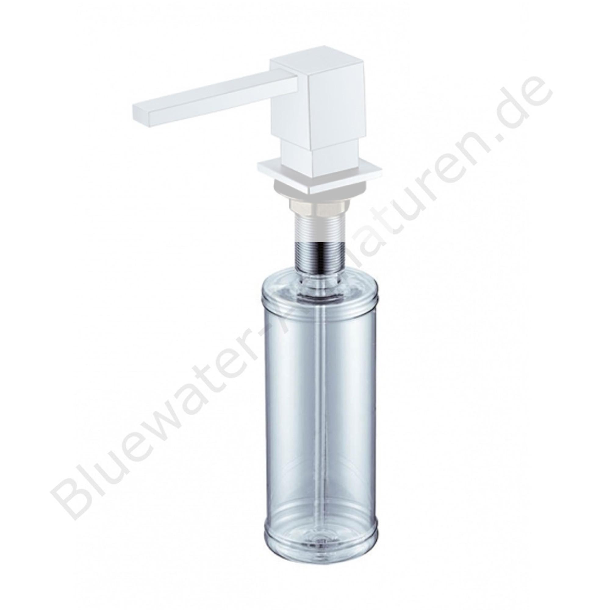 Ersatz-Behälter für Bluewater Messing Seifenspender Küche Eckig Satin