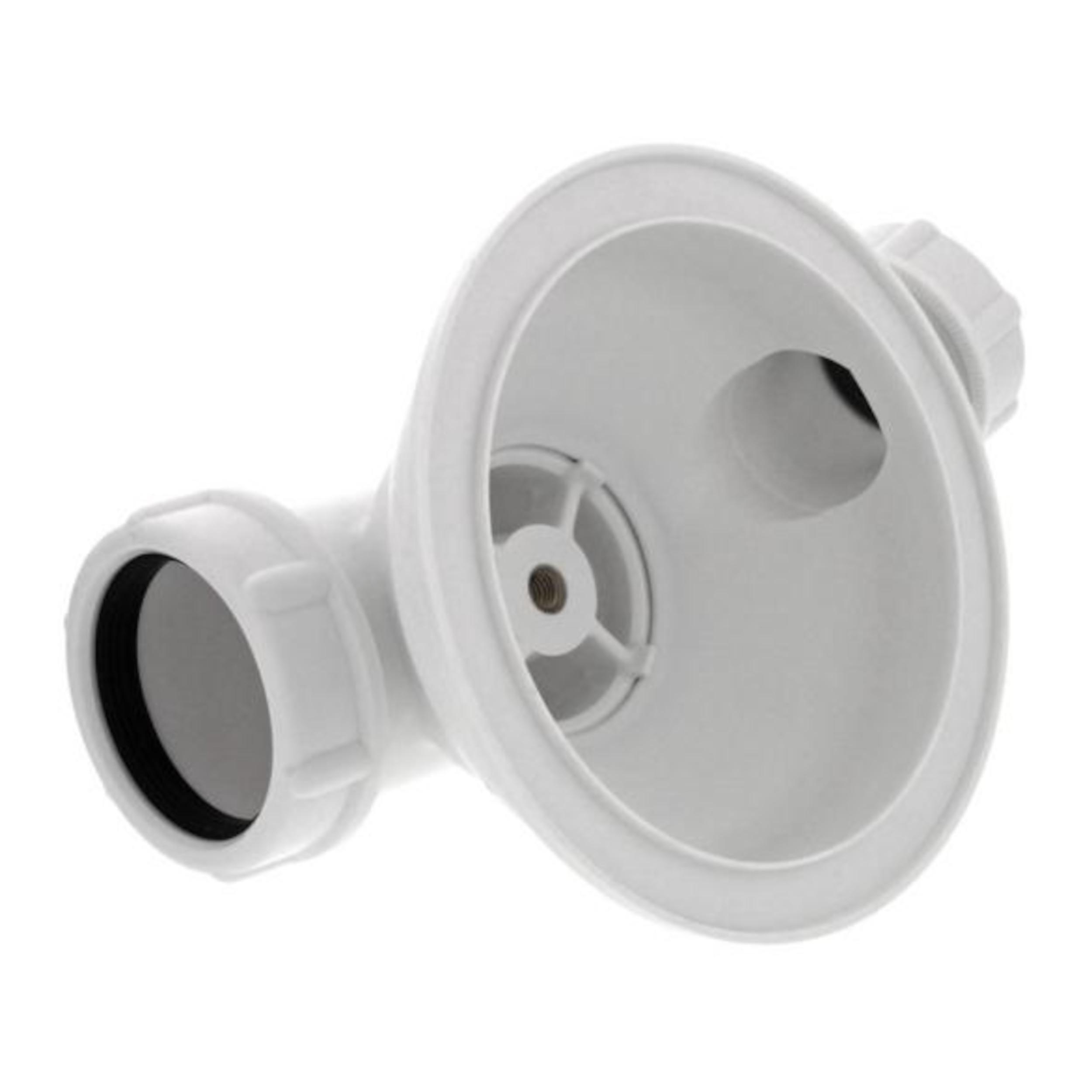 """BLANCO Ablaufventil 3,5"""" mit Überlaufanschluss VI, weiß 128814 für Ablaufgarnitur, Ventil-Körbchen"""