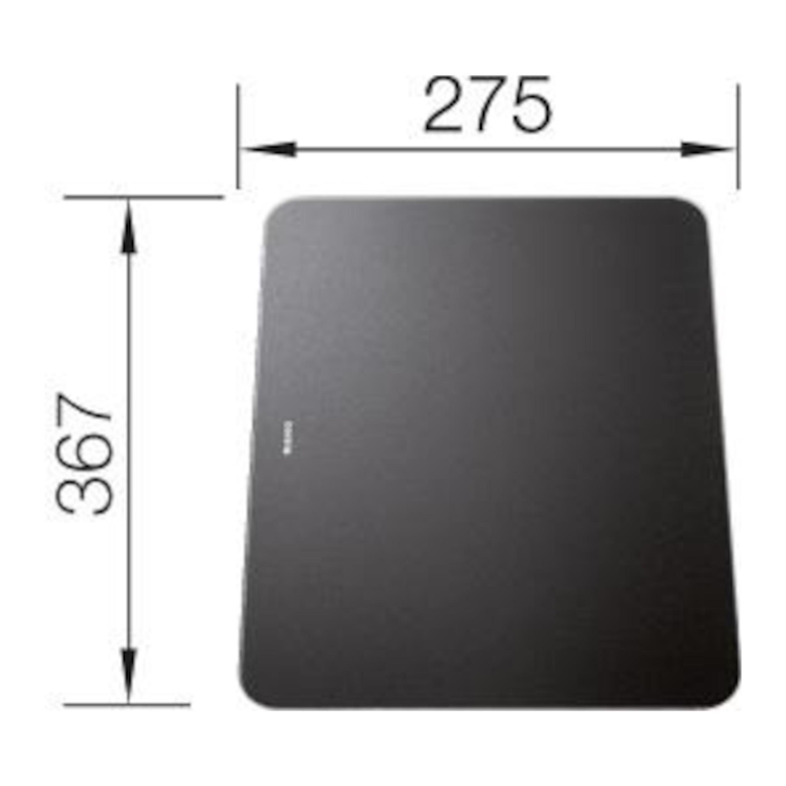 BLANCO Schneidbrett aus satiniertem Sicherheitsglas ZENAR schwarz 367 x 275 mm, 223207