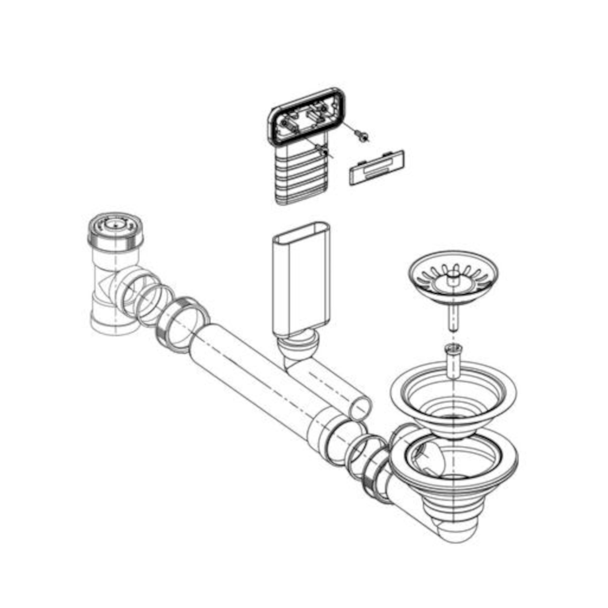 BLANCO Ablaufgarnitur 1 x 3,5'' ohne Ablauffernbedienung C-overflow modernes Sieb 225078