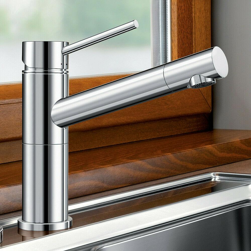 BLANCO ALTA-F Fenster Küchenarmatur Chrom Wasserhahn Küche für Spültisch