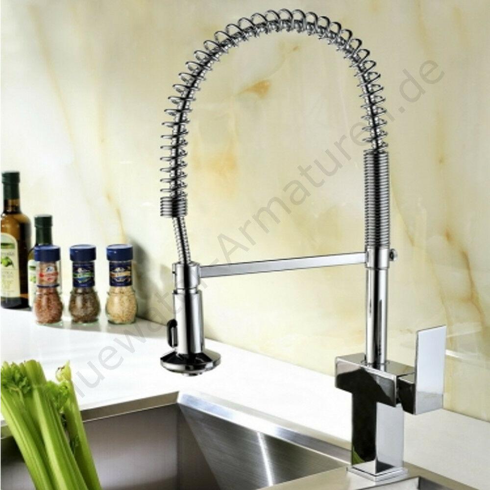 Hochwertige Bluewater VERMONT Chrom Spiralfeder Küchenarmatur