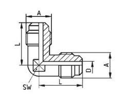 Verbindungsnippel für Kältemittelleitung 7//16 UNF x 6 mm Verbinder Doppelnippel