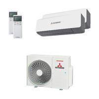[Paket] Mitsubishi Heavy Duo-Split Klimaanlage mit 5,0 kW Kühlen - Innengeräte: 1x 2,5 kW + 1x 3,5 kW SRK ZS-WB + Außengerät SCM 50 ZS-W