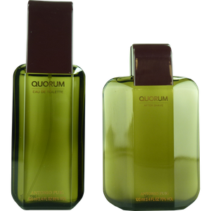 Antonio Puig Quorum Set 100ml Eau De Toilette Spray + 100ml AS – Bild 2