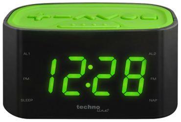 RADIOWECKER WT 465 GRUEN WECKRADIO GROßE LED ZIFFERN XXL FARBDISPLAY TECHNOLINE 2 WECKZEITEN – Bild 1