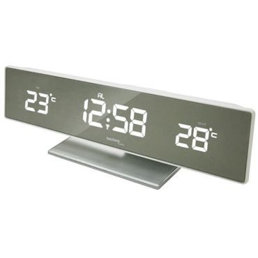 FUNK-WETTERSTATION TECHNOLINE WS 6815 WEISS LED FUNK-UHR THERMOMETER INKL SENDER