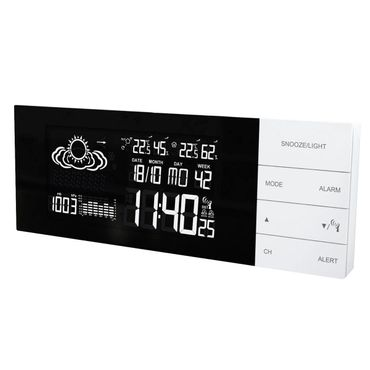 FUNK-WETTERSTATION TECHNOLINE WS 6870 WEISS LED FUNK-UHR THERMOMETER INKL SENDER