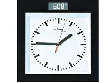 PERSONENWAAGE DIGITAL-WAAGE BAHNHOF-UHR TECHNOLINE PW 300 BIS 180 KG BADUHR