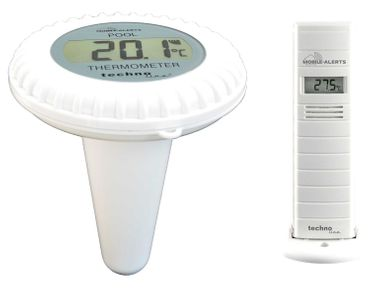 MOBILE ALERTS MA 10700 THERMO HYGRO SENSOR POOL TEICH THERMOMET POOLSENSOR – Bild 1