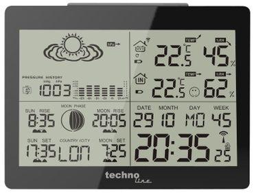 Technoline WS 6760 Profi-Wetterstation Wettervorhersage max.3 Aussensender Frost