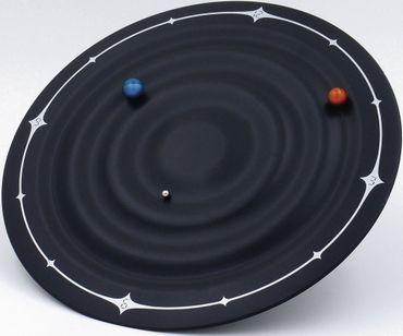 Wanduhr WT 7350 Technoline Galaxy Clock Magnetuhr schwarz Ø 21,5cm