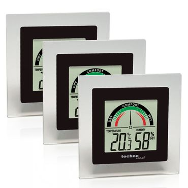 WS 9415 3er SET MIN-MAX TEMPERATURSTATION ZIMMER THERMOMETER HYGROMETER DIGITAL TECHNOLINE