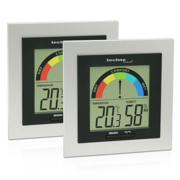 WS 9430 2er SET THERMOMETER HYGROMETER DIGITAL RAUMKOMFORTANZEIGE – Bild 1