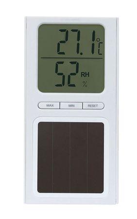 Solarthermometer mit Hygrometer Thermometer , weiß solar