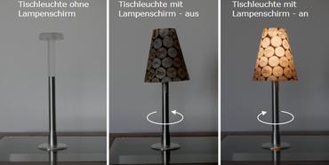 VIVI LED Tischlampe Deko Licht Glas Glühlampe Stehlampe Tisch Leuchte Licht Lampe Balkondeko kein störendes Kabel BOT09  – Bild 5