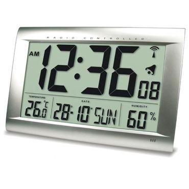 FUNKUHR TECHNOLINE WS 8009 - UHR MIT JUMBO LCD FÜR BÜRO HOTEL BAHNHOF FOYER XXL mit Batterien