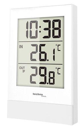 Min/Max Temperaturstation technoline WS 9178 weiß  inkl.Außensender  batteriebetrieben  – Bild 1