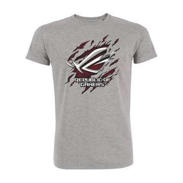 ROG Gamer Shirt 'Superhero.Design' - Unisex - grey