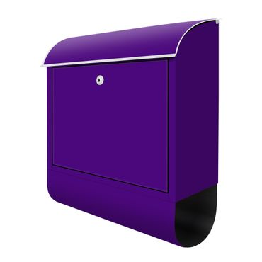 Design Briefkasten - Lila - Purple - mit Zeitungsfach  – Bild 3