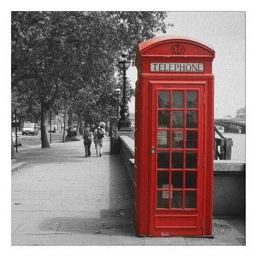 Leinwandbild Telephone