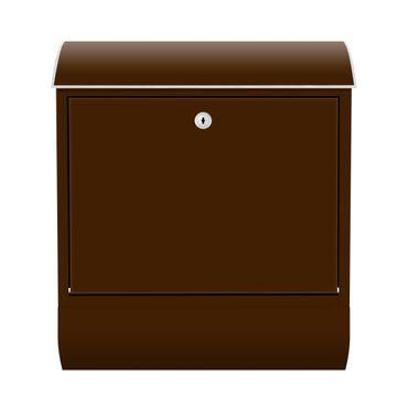 Design Briefkasten - Braun - Brown - mit Zeitungsfach