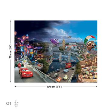 Leinwandbild - Disney Cars Worldwide – Bild 3