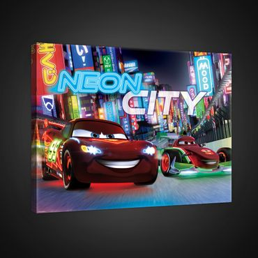 Leinwandbild - Disney Cars Neon City