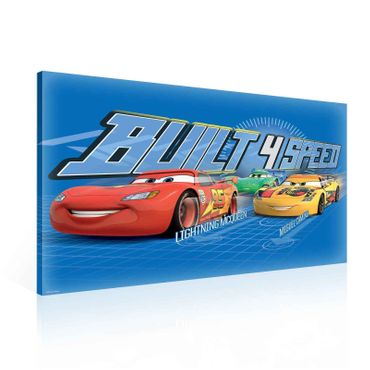 Leinwandbild - Disney Cars Built 4 Speed – Bild 1