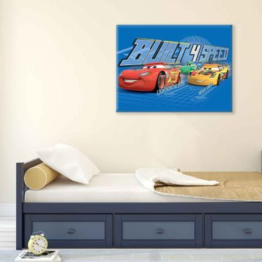 Leinwandbild - Disney Cars Built 4 Speed – Bild 2