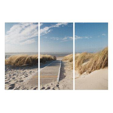 Leinwandbild Dünenweg Triptychon – Bild 1