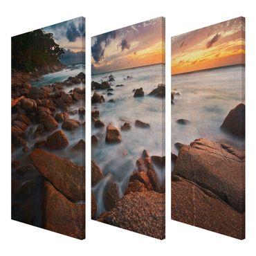 Leinwandbild Meeresblick Triptychon – Bild 3