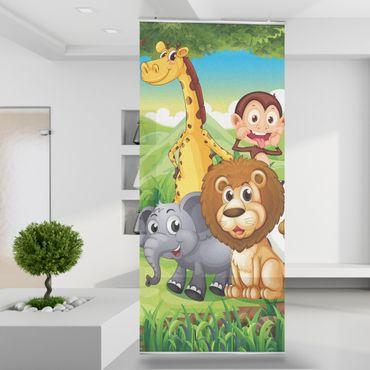 Raumteiler | Gardine Dschungeltiere 120 x 250 cm – Bild 1