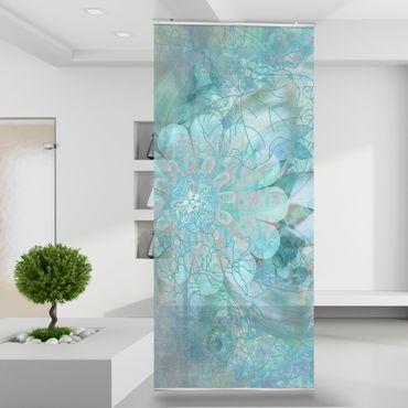 Raumteiler | Gardine Eisblume - 120 x 250 cm