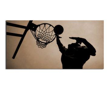 Leinwandbild Basketball 2 zu 1
