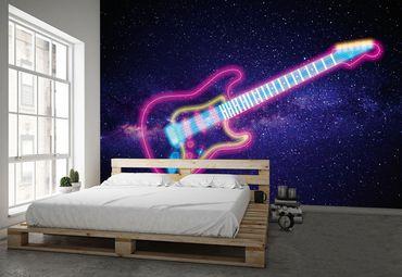 Vliestapete Glowing Guitar 372x254cm – Bild 2