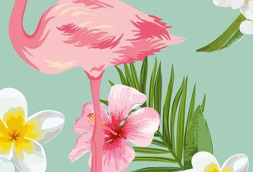 Vliestapete Flamingos 372x254cm – Bild 3