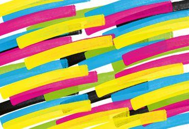 Vliestapete Color Stripes 372x254cm