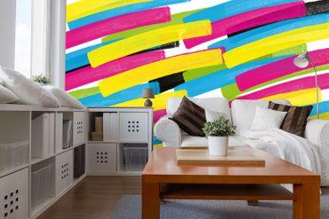 Vliestapete Color Stripes 372x254cm – Bild 2