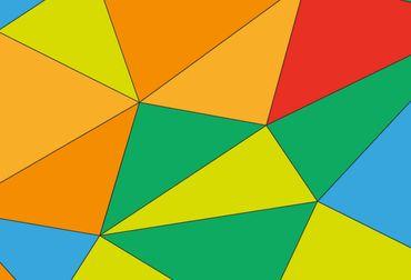 Vliestapete Polygons 372x254cm – Bild 3
