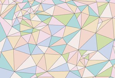 Vliestapete Polygons 372x254cm – Bild 1