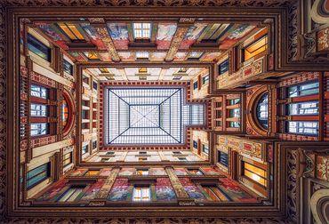 Vliestapete Galleria Sciarra Rome 372x254cm – Bild 1