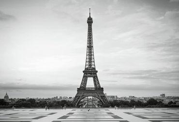 Vliestapete Eiffel Tower 372x254cm – Bild 1