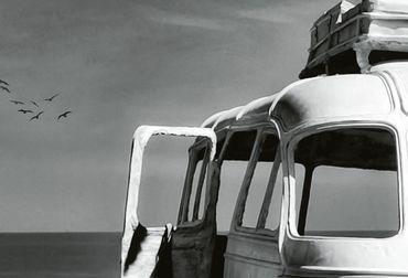 Vliestapete Beached Bus 372x254cm – Bild 3