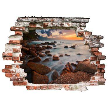 3D-Wandtattoo Meeresblick