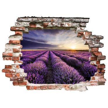 3D-Wandtattoo Lavender Field